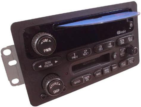 chevrolet silverado  factory amfm tape cd