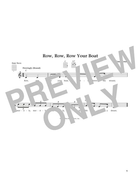 Row Row Your Boat Guitar by Row Row Row Your Boat By Traditional Ukulele Guitar