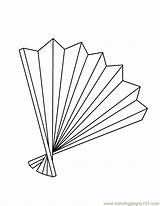 Fan Coloring Pages Electric Template Coloringpages101 Accessories Templates sketch template