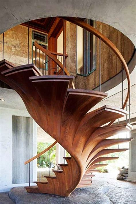 amazing  inspiring wooden stairs