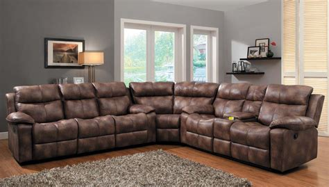 microfiber reclining sofa with console reclining sectional sofas microfiber cleanupflorida com