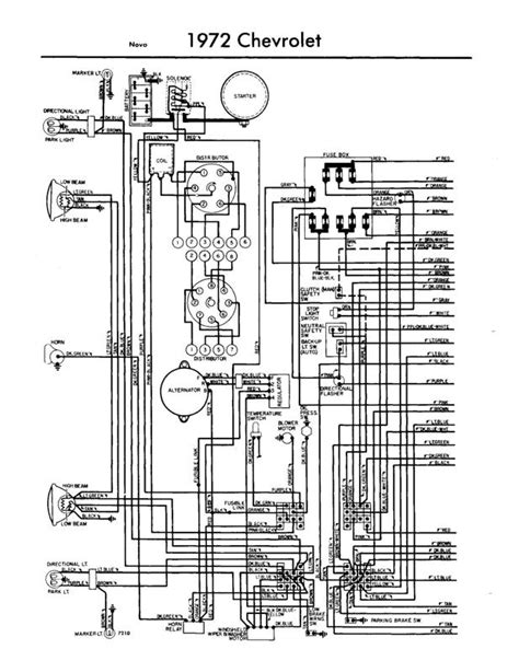 1972 Chevy Ignition Switch Wiring Diagram by 1972 Wiring Diagram Wiring Diagram And Fuse Box Diagram