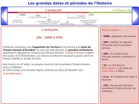 cours de histoire g 233 ographie cm2 les grandes dates et les grandes p 233 riodes de l histoire