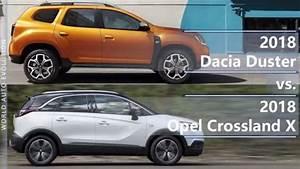 Opel Crossland 2018 : 2018 dacia duster vs 2018 opel crossland x technical comparison youtube ~ Medecine-chirurgie-esthetiques.com Avis de Voitures