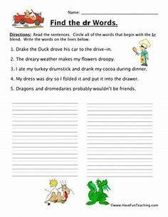 worksheets grade  images worksheets blends