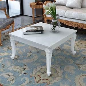 Couchtisch Weiß Hochglanz Günstig : vidaxl couchtisch 80x80x42 cm hochglanz wei g nstig kaufen ~ Bigdaddyawards.com Haus und Dekorationen