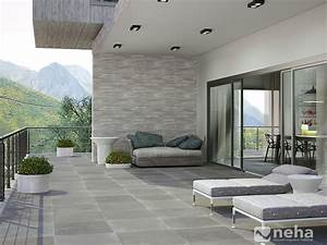 Carrelage Terrasse Gris : carrelage exterieur gris pas cher ~ Nature-et-papiers.com Idées de Décoration