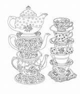 Tea Party Elegant Coloring Issuu Pages Printable Adult Cup Books Artikkeli Drawings Mandala Isu sketch template
