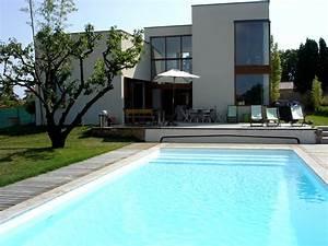 photo de maison design avec piscine toit plat 2014 With maison design avec piscine