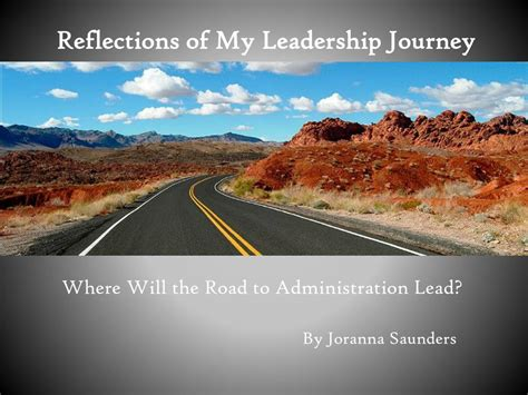 reflections   leadership journey powerpoint