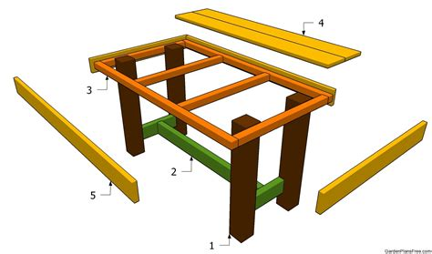 woodwork garden table plans free plans pdf free