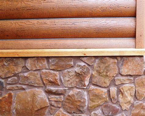 beautiful concrete log siding  stone accent vinyl log siding home exterior makeover log