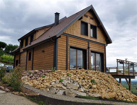 maisons et chalets en bois grande maison bois style chalet nos maisons ossatures bois 68 haut rhin