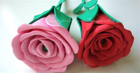 Cómo hacer Rosas de Goma eva Manualidades
