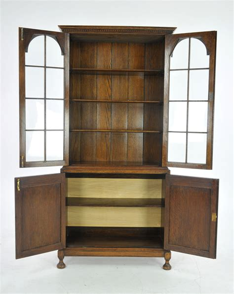 Oak Bookcase by Antique Oak Bookcase Display Cabinet Antique Furniture
