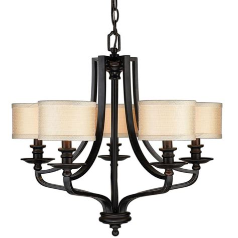 Home Depot Canada Dining Room Light Fixtures by Hton Bay 5 Light Rubbed Bronze Hanging Chandelier