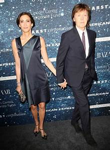 Paul McCartney holds wife Nancy's hand at Stella's ...