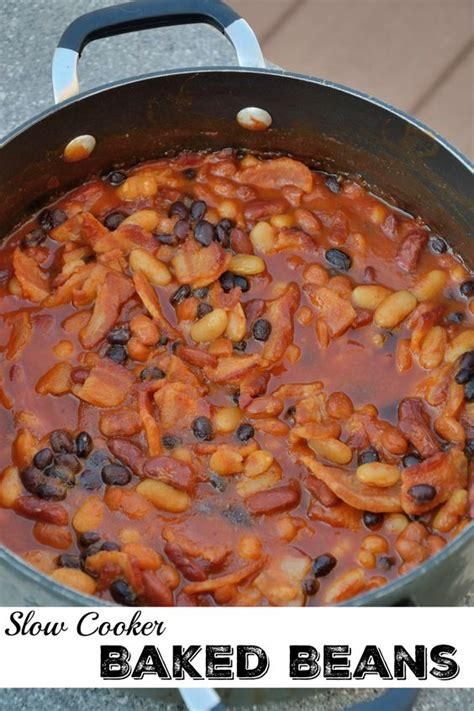 cooker baked beans baked beans and crock pot baked beans on