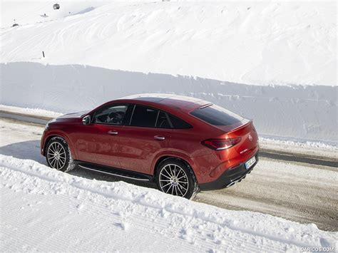 Gallery of 62 high resolution images and press release information. 2021 Mercedes-Benz GLE Coupe 400 d 4MATIC Coupe (Color: Designo Hyacinth Red Metallic) - Rear ...