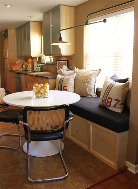 Make Kitchen Banquette by More Cushion For The Banquette The Cavender Diary