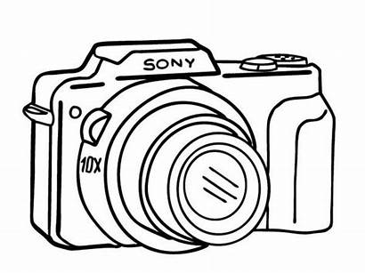 Camera Coloring Pages Compact Sheet Printable Coloringsky