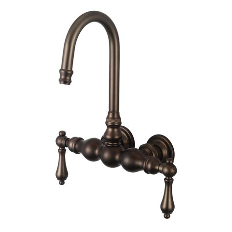 water creation 2 handle wall mount vintage gooseneck claw