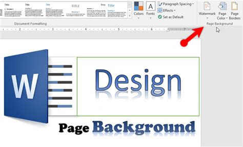 design page background  microsoft word