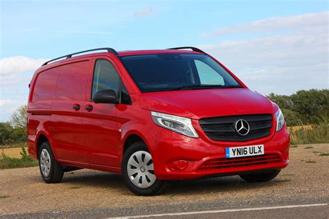 The striking front end of the vehicle featured three headlamps and horizontal air intake slits instead of the classic radiator grille. Mercedes-Benz Vito review (2021) | Parkers