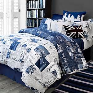 buy bedlam passport reversible king duvet cover set in blue from bed bath beyond