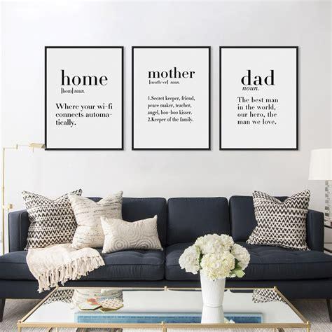 minimalist black white home friends boy dad quotes canvas