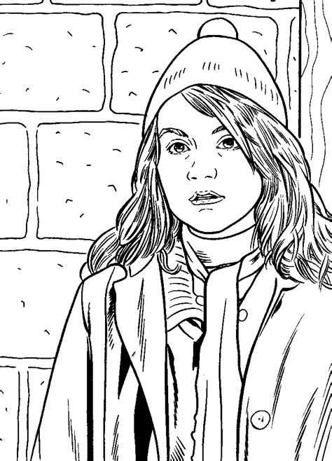 hermione granger drawing coloring child coloring