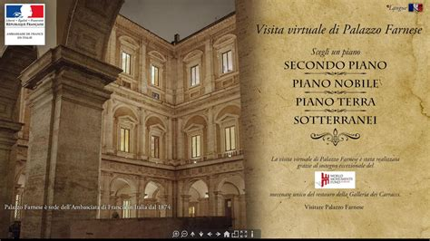 Consolato Francese Roma - visita virtuale di palazzo farnese la en italie