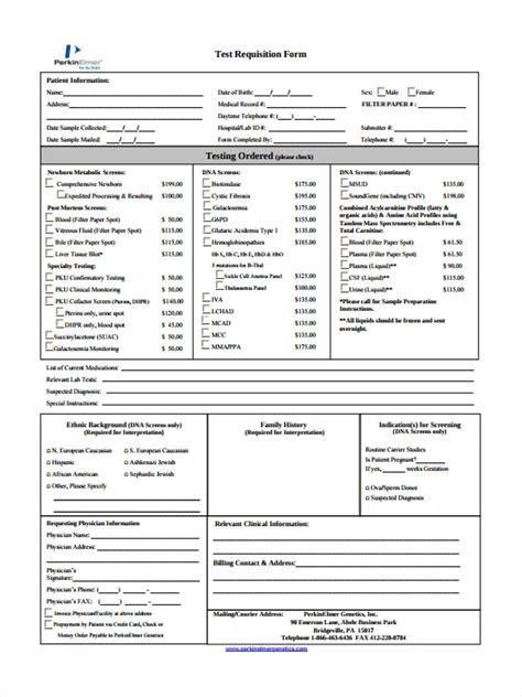 quest diagnostics lab requisition form pdf test requisition forms 8 free documents in pdf