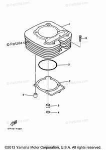 Yamaha Atv 2003 Oem Parts Diagram For Cylinder
