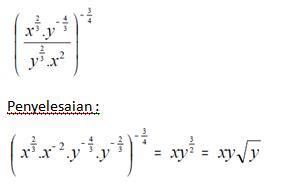 contoh soal pembahasan persamaan fungsi eksponen