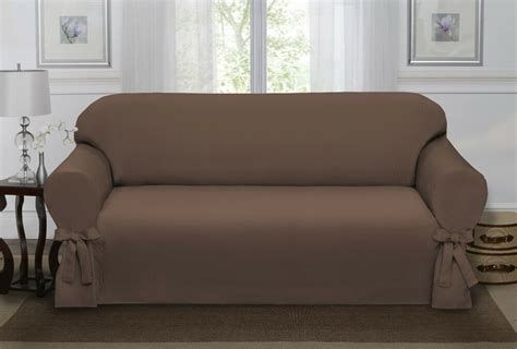 Brown Loveseat Cover by Chocolate Brown Lucerne Sofa Slipcover Cover Sofa
