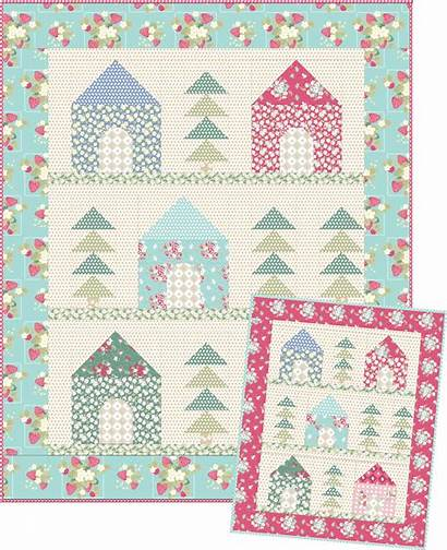 Pattern Cozy Quilt Cabins Patterns Quilting Quilts