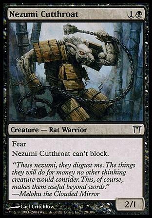 nezumi cutthroat chions of kamigawa