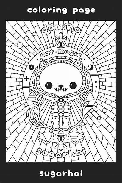 Coloring Sugarhai Cat Meme Magic Printable Adults