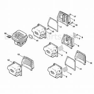 Stihl Ms 660 Chainsaw  Ms660 W  Parts Diagram  Muffler