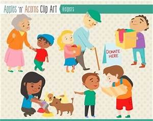 Helping People Clip Art - color and outlines $ | Clip Art ...