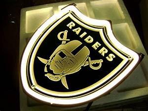 Wiki Neon Sign Blog NFL OAKLAND RAIDERS FOOTBALL BEER BAR