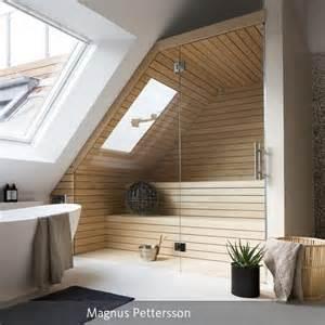 bad ideen dachgeschoss sauna im badezimmer saunas modern und badezimmer