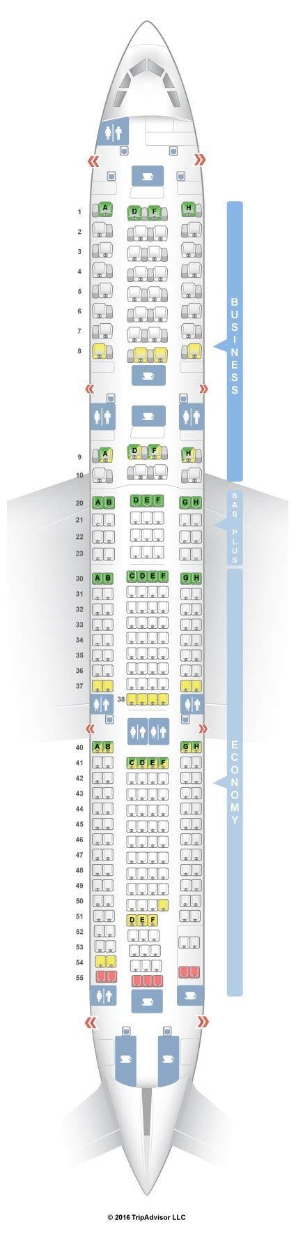 airbus a340 300 stoelindeling seatguru seat map sas airbus a340 300 343