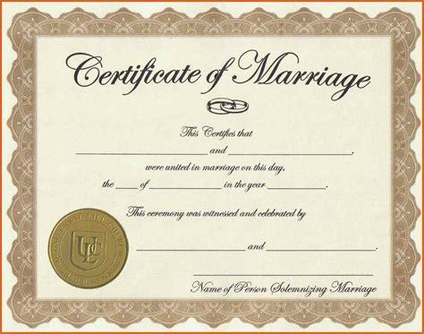 Printable Fake Marriage Certificate Template Costumepartyrun