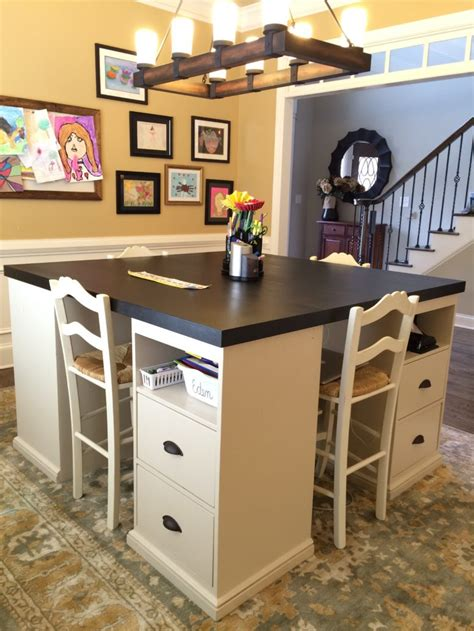 two person desk diy 12 awesome diy craft tables with free plans shelterness