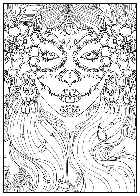 woman coloring pages  adults page