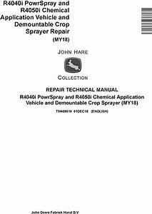 John Deere R4040i  R4050i Demountable Crop Sprayer  My18