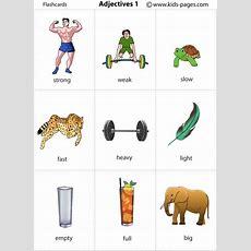 Adjectives 1 Flashcard