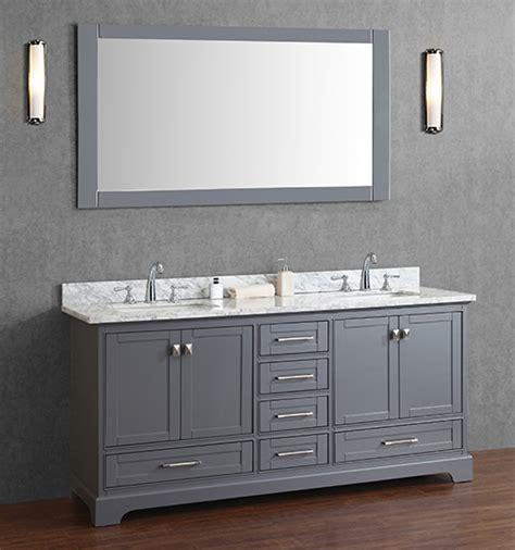 72 inch sink bathroom vanities anele 72 inch gray sink bathroom vanity set with mirror 24805